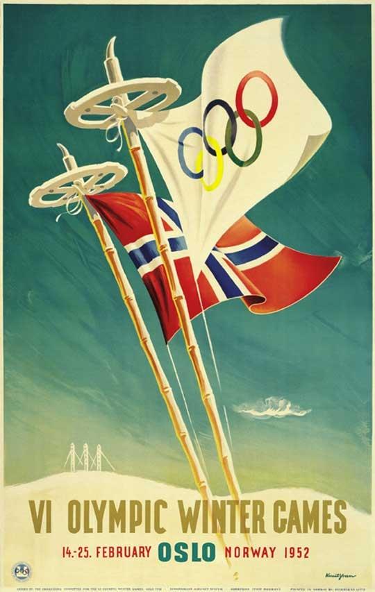 1952 Oslo Norway Olympics