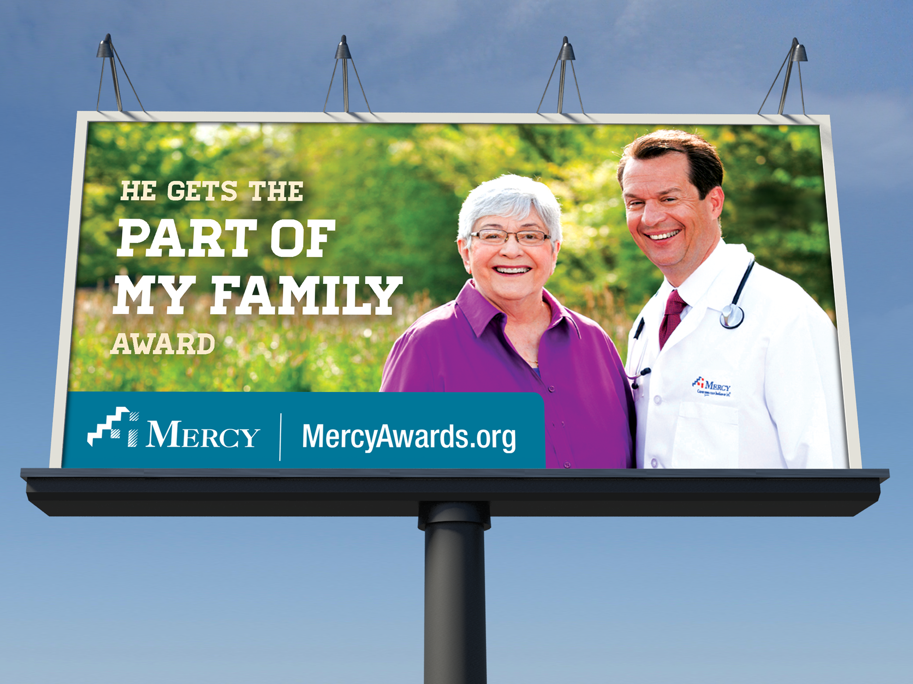Mercy Hospitals Physician Campaign Billboard | Health Branding | Hospital
