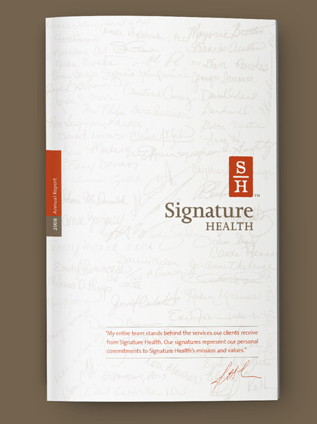 Signature Health Annual Report 2008 | Brand Identity