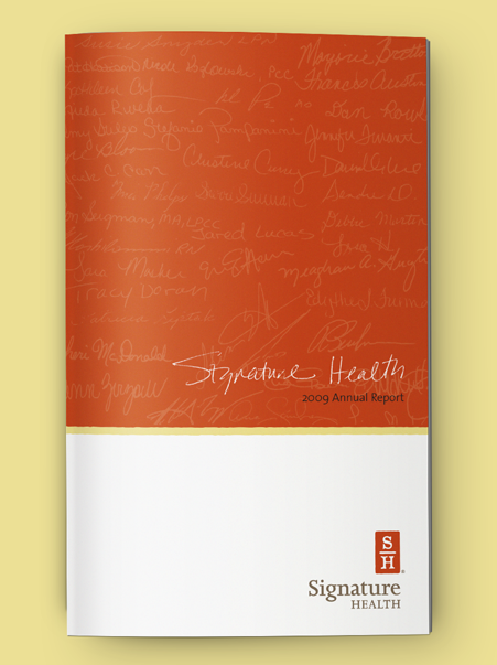 Signature Health Annual Report 2009 | Brand Identity