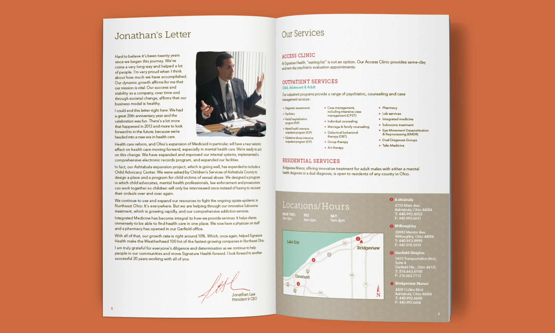 Signature Health Annual Report 2013 | Brand identity