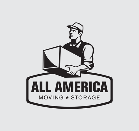 All America Moving and Storage Logo Design