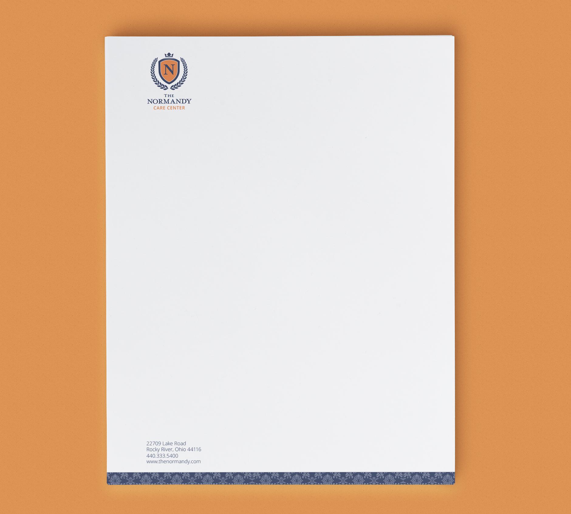 The Normandy Care Center Letterhead | Rebranding Agency