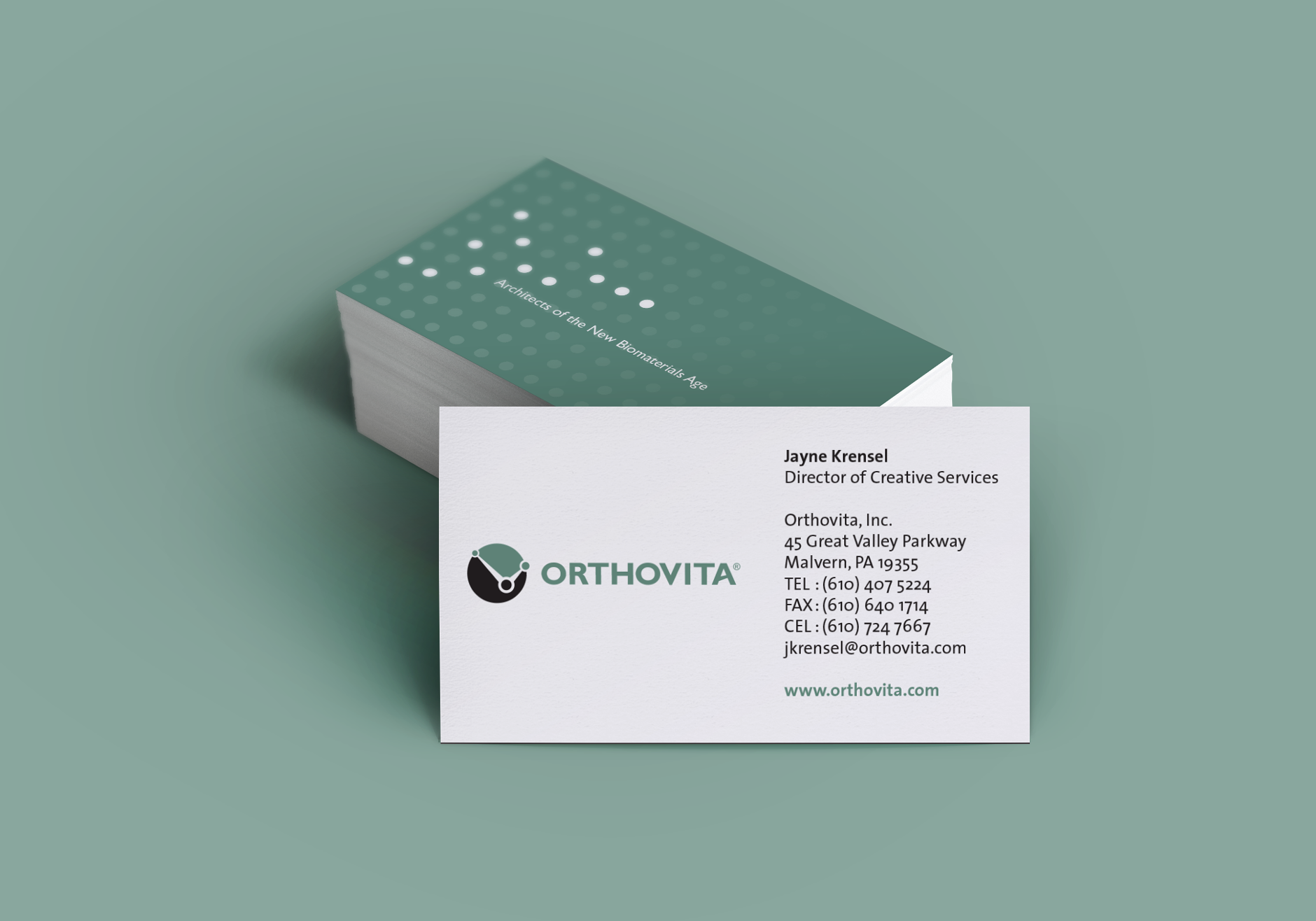 Orthovita Logo Business Cards | Branding | Healthy Brand