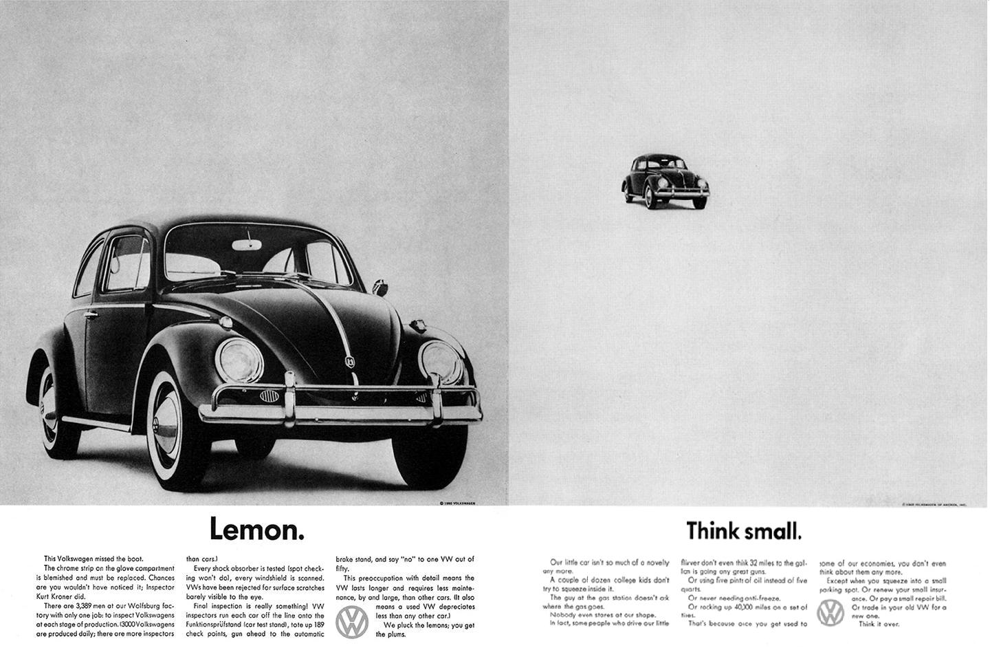 Helmut Krone VW Ads | typography, css, web design