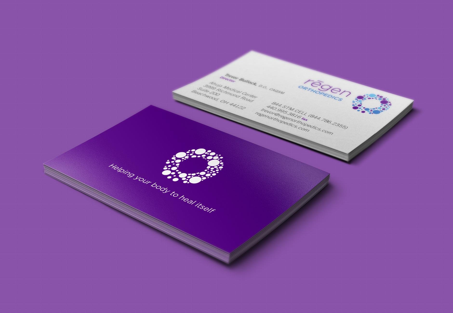 Regen Orthopedics Letterhead Business-Card | branding and healthcare