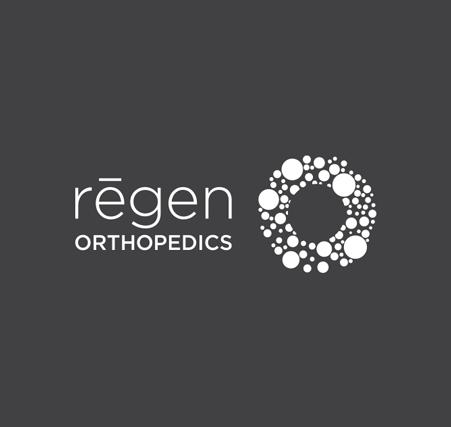 Regen Orthopedics Logo-white | branding and healthcare