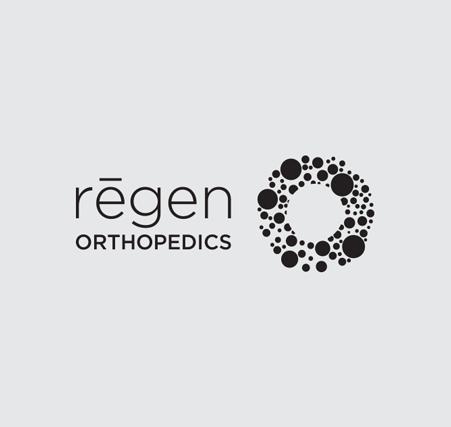 Regen Orthopedics Logo-Black | branding and healthcare