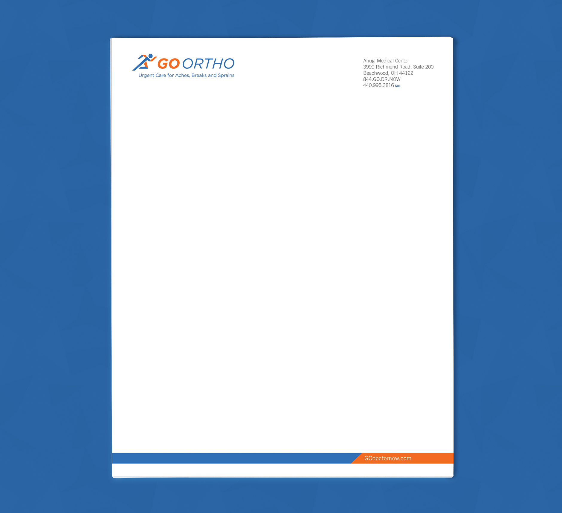 GO-Ortho---Letterhead | Health Care Branding