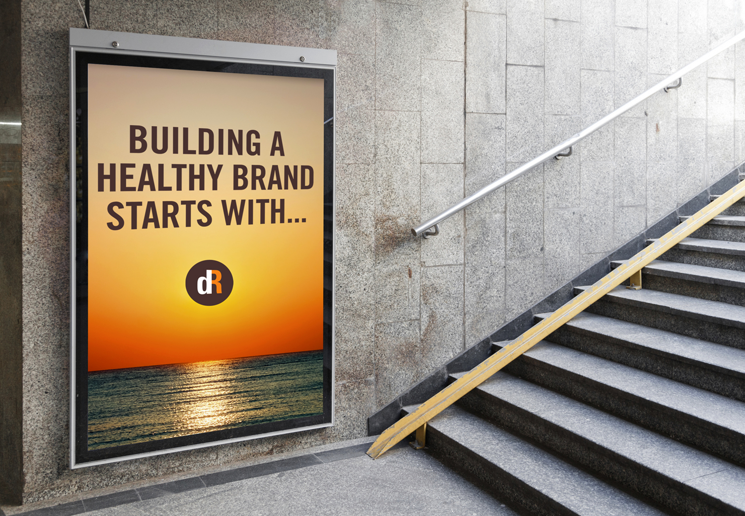Healthy branding billboard