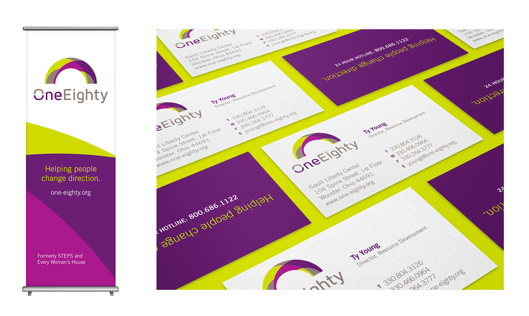 Banner and business cards