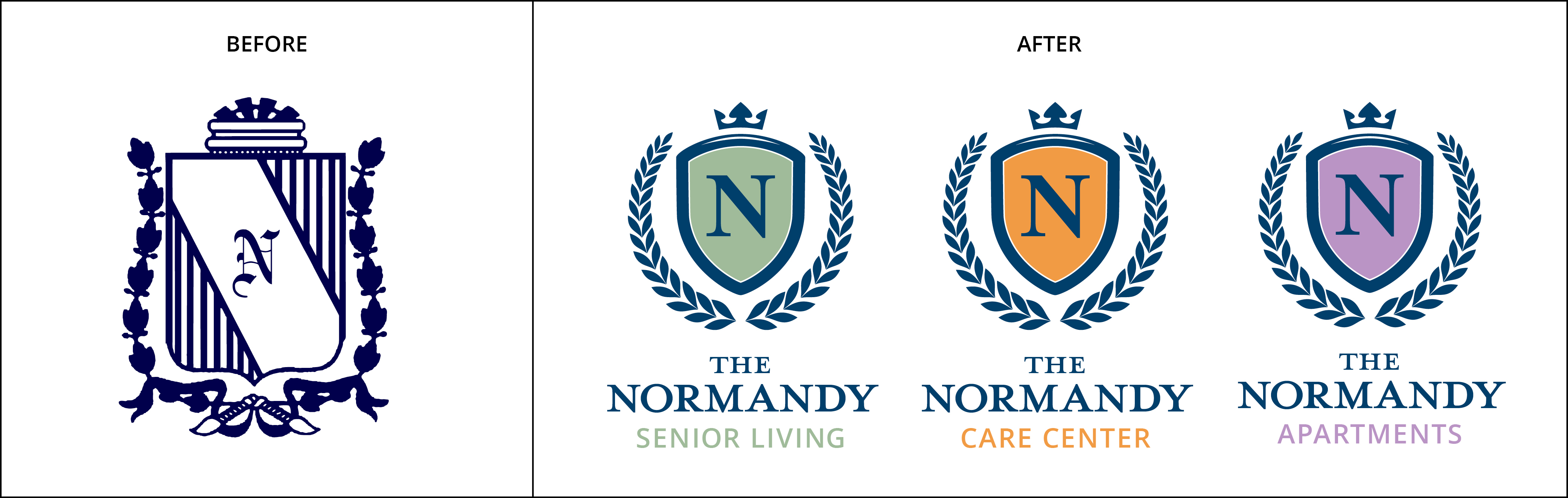 Logo Refresh Normandy Senior Living