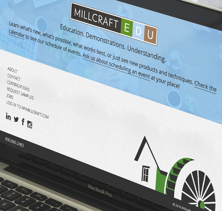 Millcraft Website Redesign
