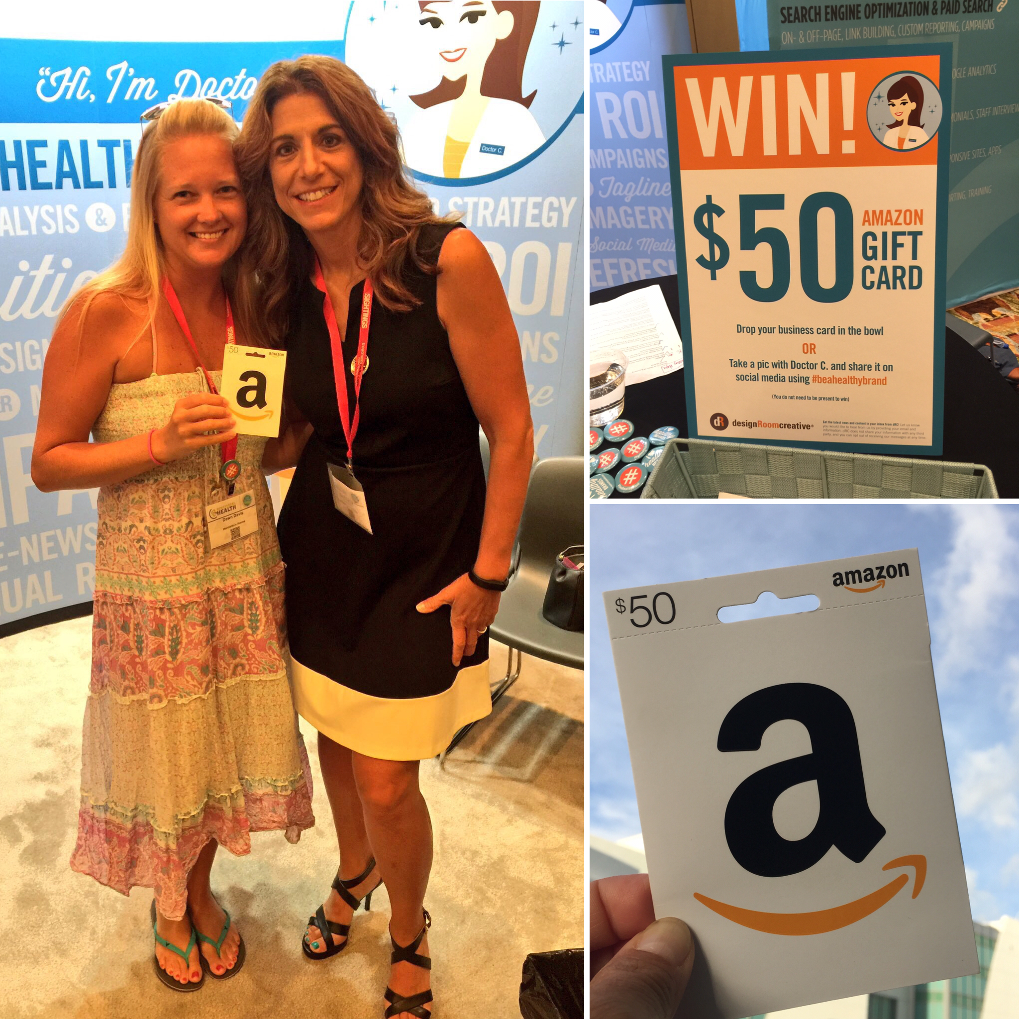 Gift Card Giveaway winner at State of Recovery Conference